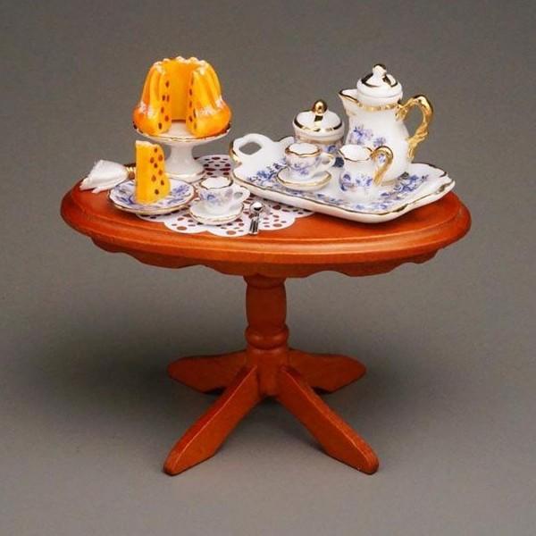 Reutter Miniaturen - Tisch Goldzwiebel gedeckt 1.822/1 Kaffeetisch Puppenstube