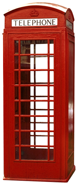 Art & Pleasure - Wandbild Kontur englische Telefonzelle 50x100cm Acryl-Glas Bild