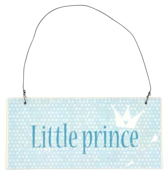 """Laursen - Metallschild """"Little Prince"""" Blau 7190-99 Wandschild Schild Türschild"""