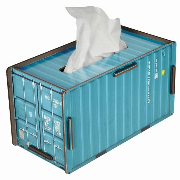 """Werkhaus - Tücherbox """"Container"""" Türkis CO1023 Kosmetiktücherbox Tissuebox"""