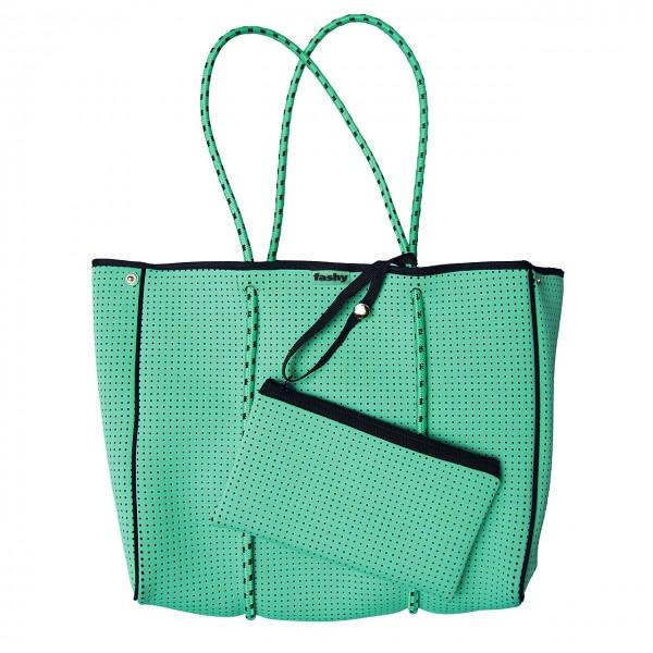 Fashy - Strandtasche Badetasche aus Neopren in grün