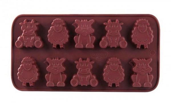 Dr. Oetker - Pralinenform kleine Farm 2503 Schokoladenform Confiserie Silikon