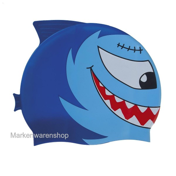Fashy - Kinder - Badehaube Badekappe Silikon Fisch blau