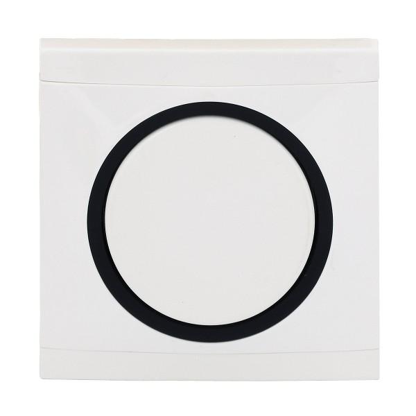 REV Ascoli weiß/schwarz Kreuzschalter inkl. Rahmen 927104 Lichtschalter Schalter