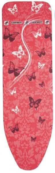 Leifheit Bügelbezug Perfect Steam Butterflies Rot M 125x40 Bügelbrettbezug 71613