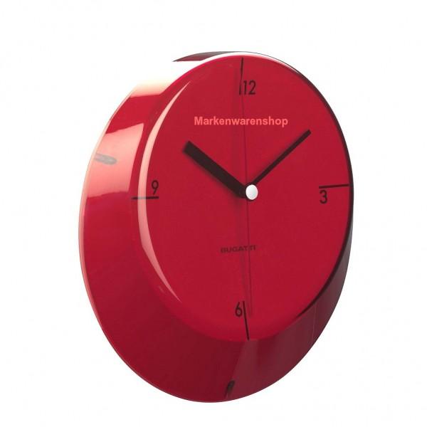 Casa Bugatti - Wanduhr Rot, Küchenuhr, Glamour