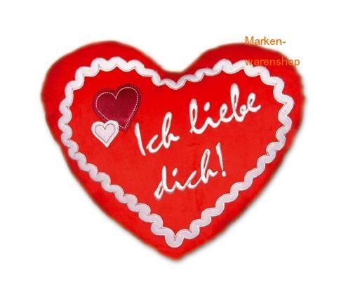 Trend Import - Herzkissen Plüschkissen Kissen, Ich liebe dich! Rot