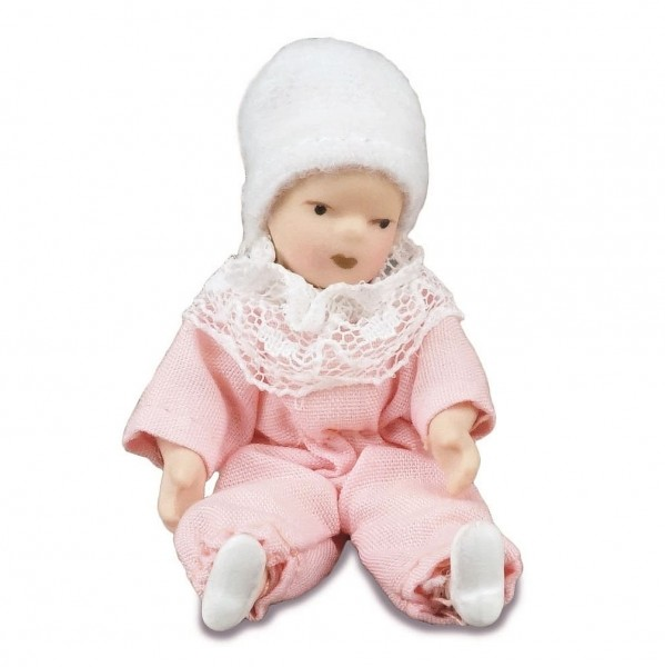 Reutter Miniaturen - Baby Puppe für Puppenstube (1.780/4) Babyfigur bekleidet