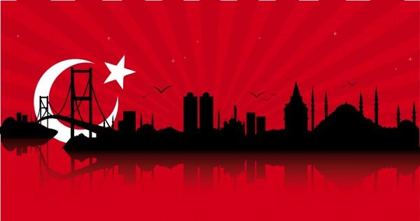 Glasbild - Istanbul 95x33cm Glasbilder Wandbild Bild Dekobild Glasbild 11213