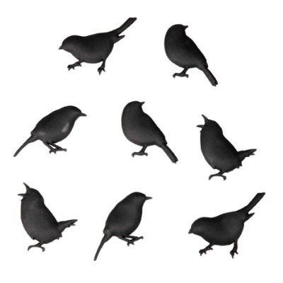 Cabanaz - Bird Magneten Magnet-Set Vögel 8-tlg. schwarz