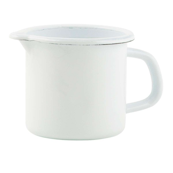 Laursen - Kanne Emaille Weiß (0452-11) 0,6l Krug Milchkännchen Vase