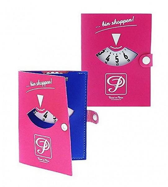 """Tussi on Tour - Parkscheibe """" bin Shoppen"""" Parkscheibenmappe Pink/Blau 10533400"""