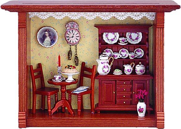 Reutter Porzellan Miniaturen - Wandbild Kaffeehaus Kaffee 20x15cm (1.700/4)