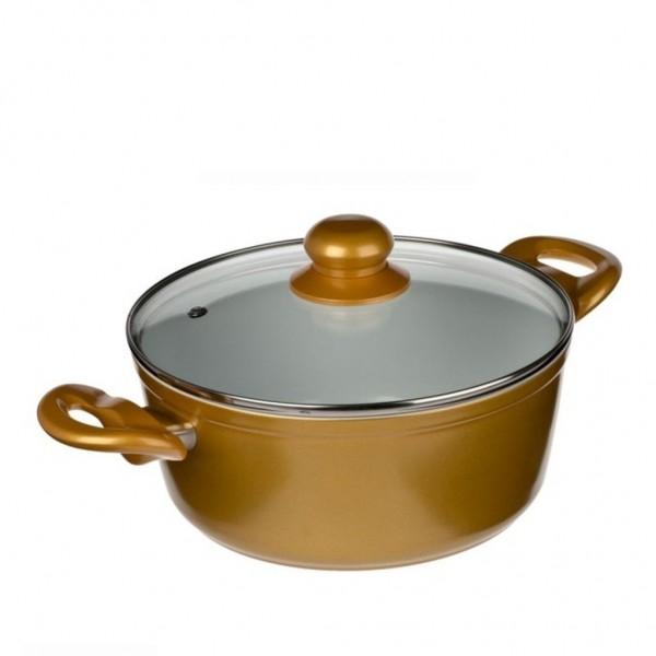 Genius - Cerafit Gold Topf Set 2-tlg Ø22 Keramik-Töpfe Kochtöpfe 24036