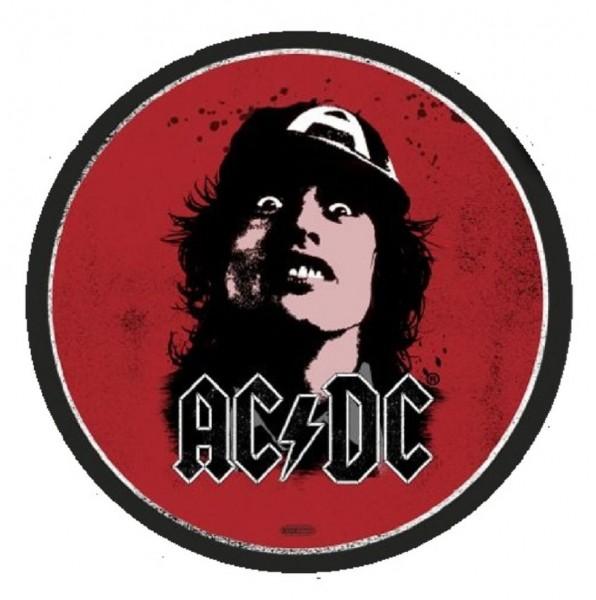 """Rockbites - Teppich """"AC/DC - Face"""" Ø 1m Läufer Tür- Fuß- Schmutz- Matte 100866"""