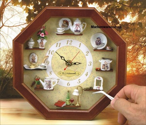 Reutter Miniaturen - Hummel Wanduhr 22x22cm (24.668/0) Miniaturenwanduhr Uhr