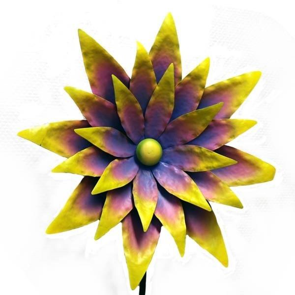 Gall u. Zick - Windrad Blume H 1,70m (NA-103) Metall Gartendeko Windspiel