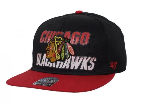 "47 Brand - NHL Cap Basecap Kappe Mütze Eishockey ""Chicago Blackhawks"" (Nr. 47)"