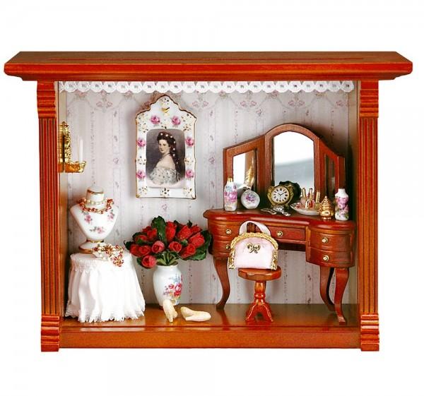 Reutter Porzellan Miniaturen - Wandbild Schminkzimmer 15x20cm (1.701/2)