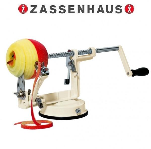 Zassenhaus - manueller Apfelschäler im Retro-Desig 3 in 1 creme 072013