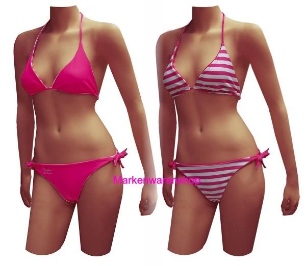 Tussi on Tour - Bikini Wendebikine Gr. S / in Pink und Pink Weiss gestreift