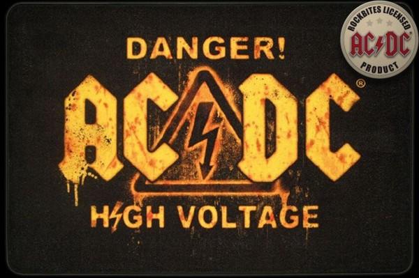 """Rockbites - Teppich """"AC/DC High Voltage"""" 50x80cm Läufer Tür- Fuß- Matte 100839"""