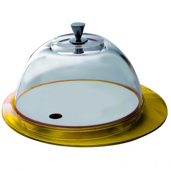 Casa Bugatti - Käseglocke, Tortenplatte, gelb