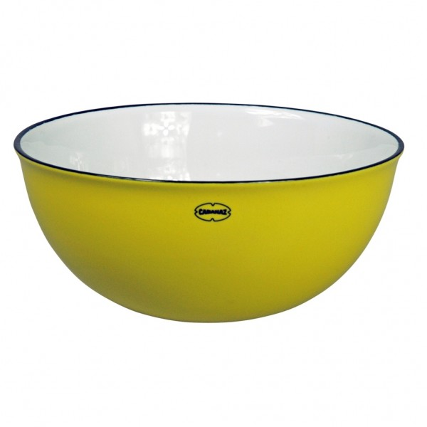 Cabanaz - Schüssel Schale Salatschüssel Salad Bowl gelb 1201644