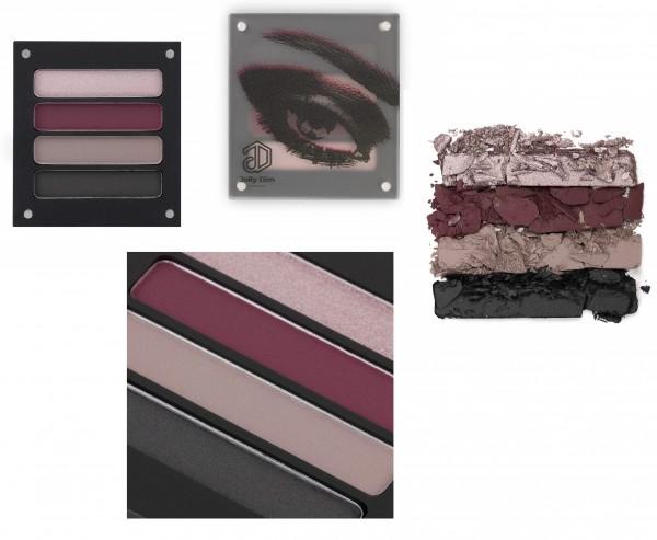 Jolly Dim Makeup Mahogany Eyeshadow-Set 4 Farben Matt u. glänzend. Lidschatten