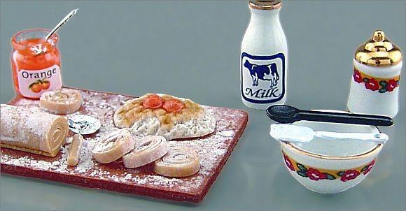 Reutter Miniaturen für Puppenstube - Backbrett 1.477/8 Deko Küche Puppenküche