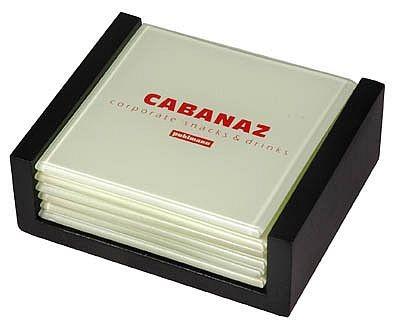 Cabanaz - Glasuntersetzer 6 Stück, Vanille