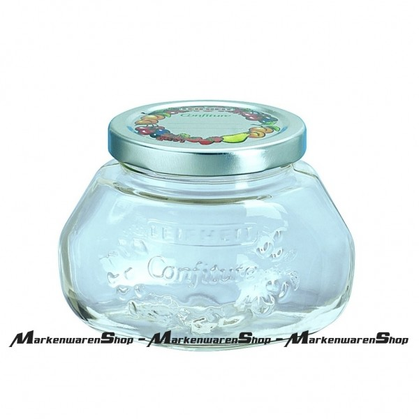 Leifheit 36003 Gelee-Glas 0,25 Liter, Einkochglas, Einmachgläser
