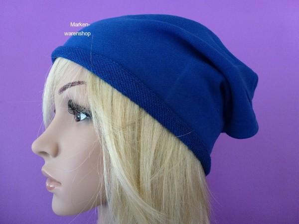 Markenwarenshop - Long Beanie Slouch Blau Kappe Mütze Damen Herren