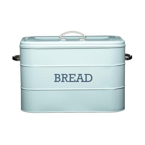 KitchenCraft - Brotkasten Brottopf Brotbox Brotbehälter Blau(LNBBINBLU)