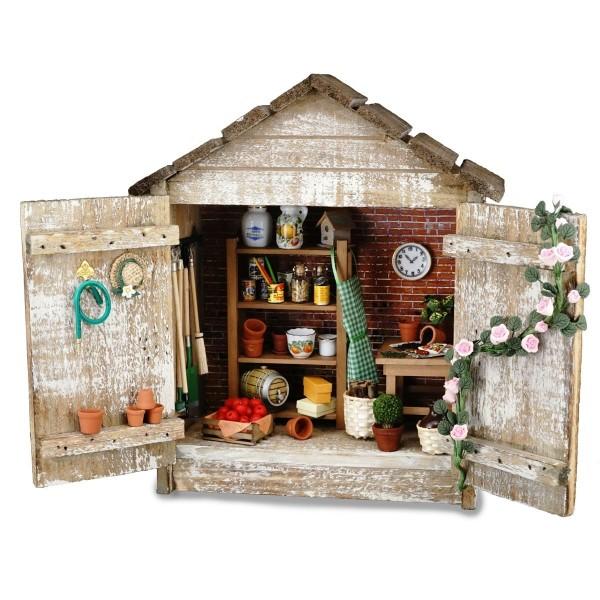 """Reutter Miniaturen - Wandbild Standbild """"Gartenhütte"""" (1.730/1) Gartenhaus"""