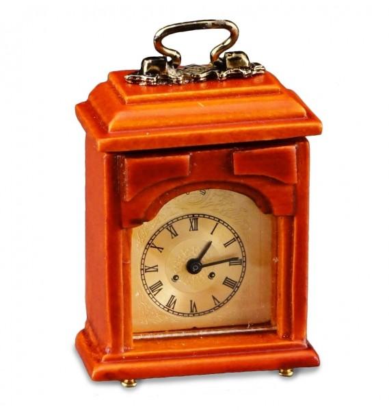 Reutter Miniaturen - Kaminuhr funktionierend (1.670/6) Holz Uhr Puppenstube