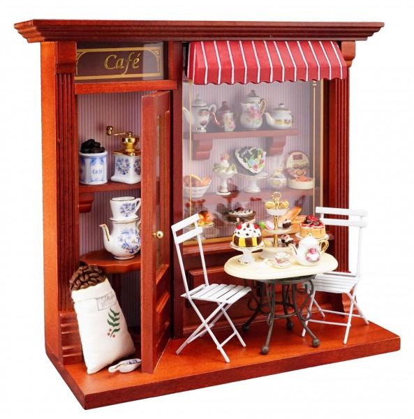 """Reutter Porzellan Miniaturen - Wandbild """"Terrassen Cafe"""" 24x21,5cm (1.794/9)"""