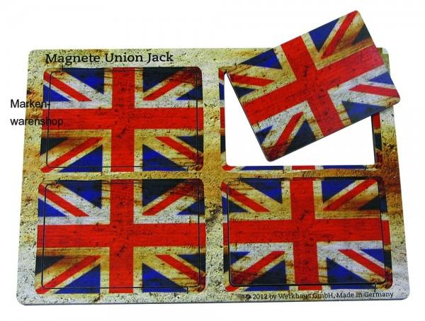 "Werkhaus - 4 Magnete ""Union Jack"" Flagge England (MA8148) Magnet Magnetset"