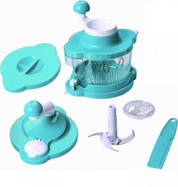 Genius 21256 Mixer Cutter Multitalent 6 tlg. Türkis Küchenmaschine Rührgerät