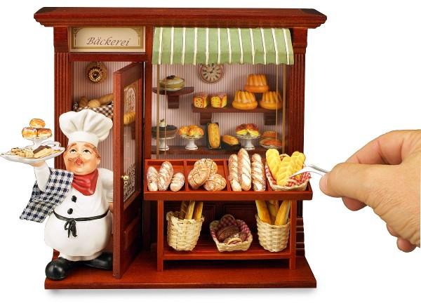 Reutter Miniaturen - Wandbild Bäckerei 21x23cm (1.794/5) Bäckerladen Puppenstube