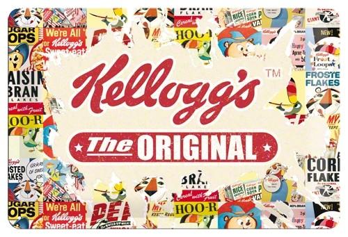 Nostalgic Art - Blechschild Kelloggs Original 20x30, Werbeschild