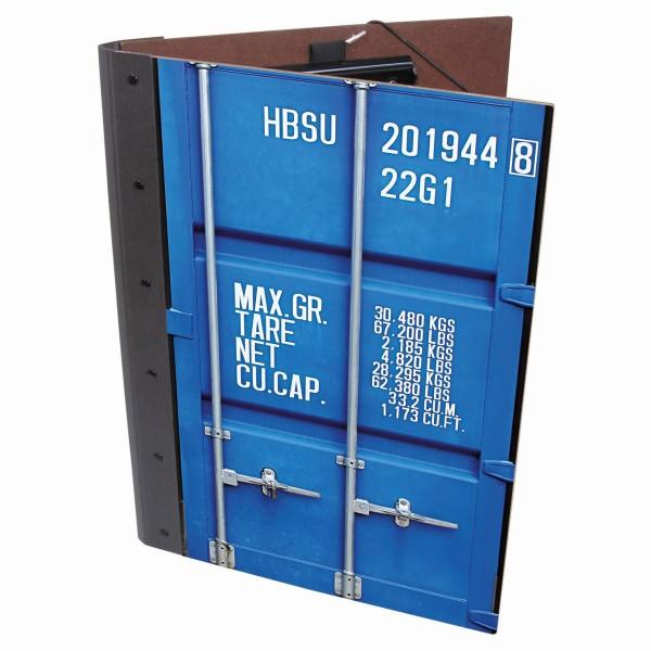 """Werkhaus - Mappe A4 """"Container"""" Blau (CO1051) Schreibmappe Klemmmappe Klemmbrett"""