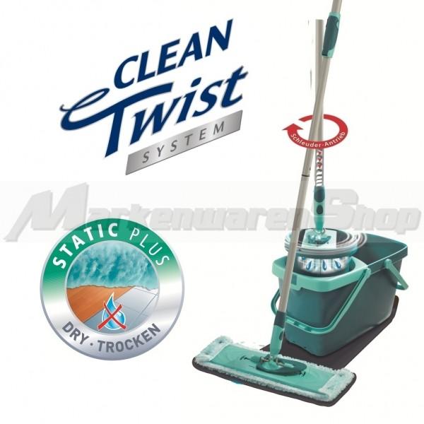 Leifheit Clean Twist System Static Plus, Bodenwischer, Wischer