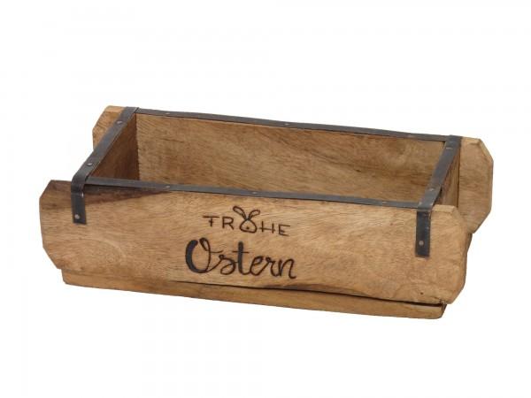 "Laursen Ziegelform ""frohe Ostern"" Unika alte Backsteinform Holz Box Kiste"