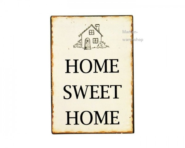 Blechschild Metallschild Schild Deko Home Sweet Home Ib Laursen 7094-00