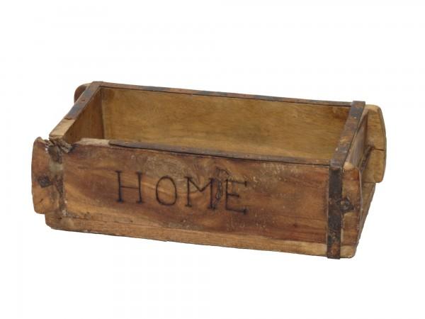 "Laursen Ziegelform ""HOME"" Unika alte Backsteinform Holz Box Kiste"