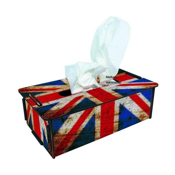 Werkhaus - Tücherbox Flagge England, Tissue Box Kosmetiktücherbox