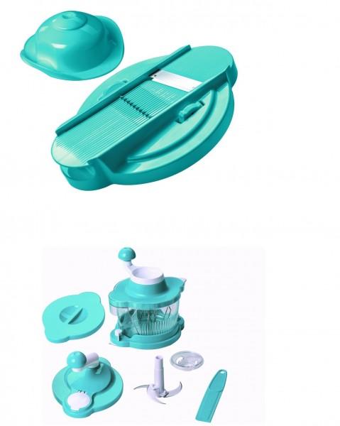 Genius Mixer 21259+21256 Cutter Multitalent 8 tlg.Türki Küchenmaschine Rührgerät
