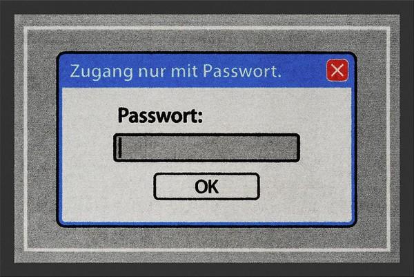"""Rockbites - Fußmatte """"Passwort"""" Türmatte Fußabstreifer 69 (100795)"""