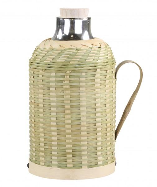 Thermokanne m. Geflecht in Bambus 1,3 L Chic Antique 61602-21 Hellgrün
